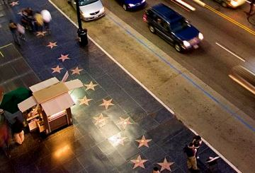 """Stars"" auf dem Hollywood Walk of Fame vor dem Dolby Theatre"